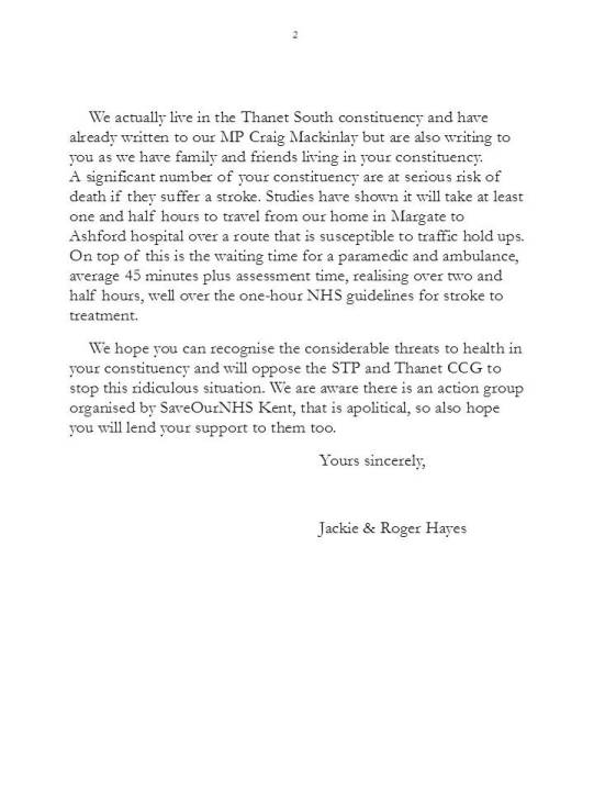 Letter to MP-Thanet North 2