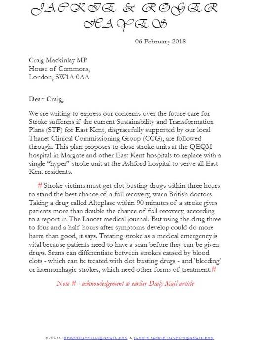 letter to MP-Thanet South 1